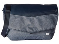 Jack Wolfskin Wool Tech Messenger Dark Sky Messenger Bags Navy