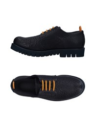 Emporio Armani Lace Up Shoes Dark Blue