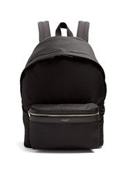 Saint Laurent City Nylon Backpack Black