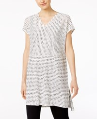 Eileen Fisher Linen High Low Tunic Regular And Petites White Black