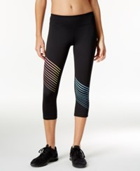 Ideology Striped Cropped Leggings Only At Macy's Noir