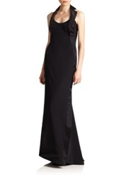 Carolina Herrera Night Collection Silk Tuxedo Gown Black