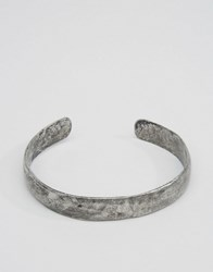 Asos Bangle In Antique Finish Silver