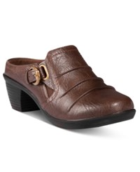 Easy Street Shoes Calm Mules Brown