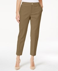 Charter Club Petite Slim Fit Ankle Pants Only At Macy's Distressed Tan