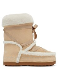 Bogner New Tignes Suede And Shearling Boots Light Tan