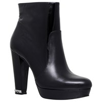 Michael Michael Kors Sabrina High Cone Heel Ankle Boots Black Leather