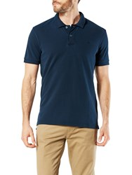 Dockers Garment Dyed Fitted Short Sleeve Polo Shirt Pembroke