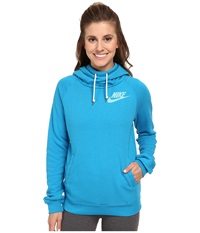 Nike Rally Funnel Neck Hoodie Light Blue Lacquer Sail Women's Sweatshirt