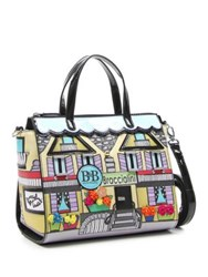 Tua Hotel 3D Applique Medium Satchel Multi Colored