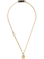 Marc By Marc Jacobs 'Bow Tie With Dice' Necklace Metallic