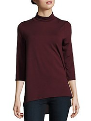 Vince Camuto Solid Turtleneck Pullover Raisin
