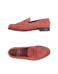 Tricker's Footwear Moccasins Men Red