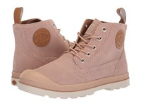 Palladium Pampa Ldn Lp Mid Suede Mahogany Rose Cuero Lace Up Casual Shoes Neutral