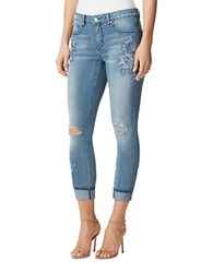 Miraclebody Jeans Embroidered Distressed Denim Portrero