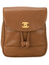Chanel Vintage Classic Backpack Brown