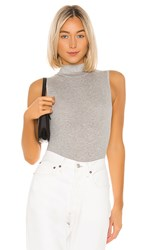 N Philanthropy Reese Bodysuit In Gray. Heather Grey