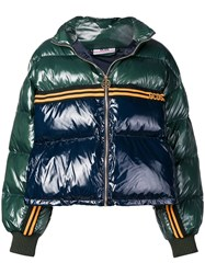 Gcds Two Tone Puffer Jacket Green