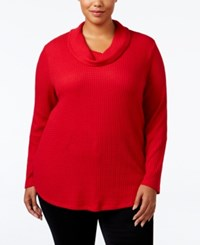 Styleandco. Style Co. Plus Size Cowl Neck Top Only At Macy's New Red Amore