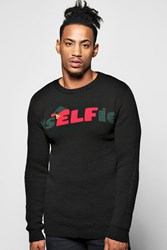 Boohoo Christmas Jumper Black