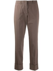 Peserico Relaxed Tailored Trousers Brown