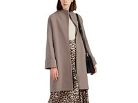 Giorgio Armani Double Faced Wool Blend Belted Coat Beige Tan