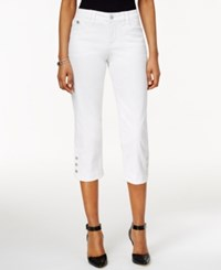 Styleandco. Style And Co. Petite Cropped Colored Wash Jeans Only At Macy's Bright White