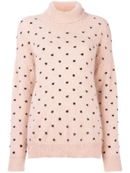 Giamba Polka Dot Jumper Pink Purple