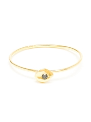 Natasha Collis Slim 18Kt Gold And Black Diamond Ring