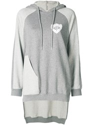 Each X Other High Low Hem Panelled Hoodie Grey