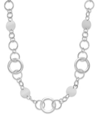 Style And Co. Necklace Silver Tone Long Circle Necklace