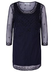 Windsmoor Beaded Tunic Top Navy