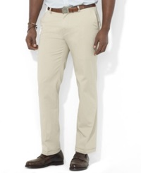 Polo Ralph Lauren Big And Tall Pants Suffield Classic Fit Flat Front Chino Pants Classic Stone