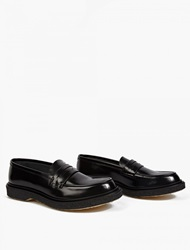 Adieu Black Leather Wtype 5 Penny Loafers