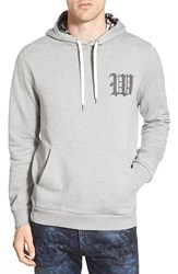 Wesc 'College' Graphic Hoodie Grey