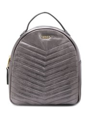 Tosca Blu Padded Detail Backpack Silver