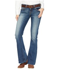 Rock And Roll Cowgirl Trouser Jeans In Dark Vintage W8 7683 Dark Vintage Navy