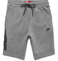 Nike Cotton Blend Tech Fleece Shorts Light Gray