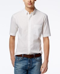 Club Room Men's Creston Solid Short Sleeve Shirt Only At Macy's