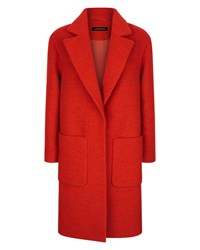 Jaeger Boiled Wool Patch Pocket Coat Red