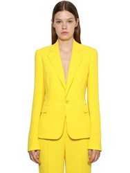 Ralph Lauren Cady Crepe Fitted Jacket Yellow