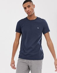 Jack Wills Sandleford Logo T Shirt In Navy
