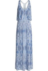 Tart Collections Tamsyn Printed Stretch Modal Jersey Maxi Dress Light Blue