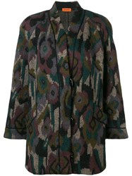 Missoni Vintage Patterned Coat Black