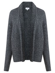 Jigsaw Boucle Knit Cardigan Dark Grey