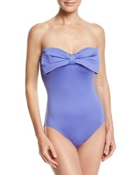 Kate Spade Georgica Beach Solid One Piece Swimsuit Blue