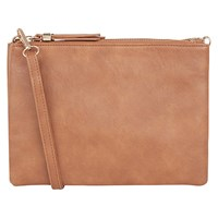 Oasis Evie Triple Cross Body Bag Tan