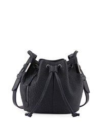 Time's Arrow Lida Mini Leather Bucket Bag Dusk