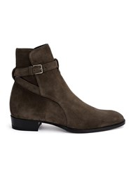 Saint Laurent 'Wyatt 30 Jodhpur' Ankle Boots Grey