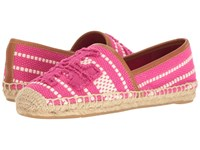 Tory Burch Shaw Espadrille Hibiscus Flower Women's Shoes Pink